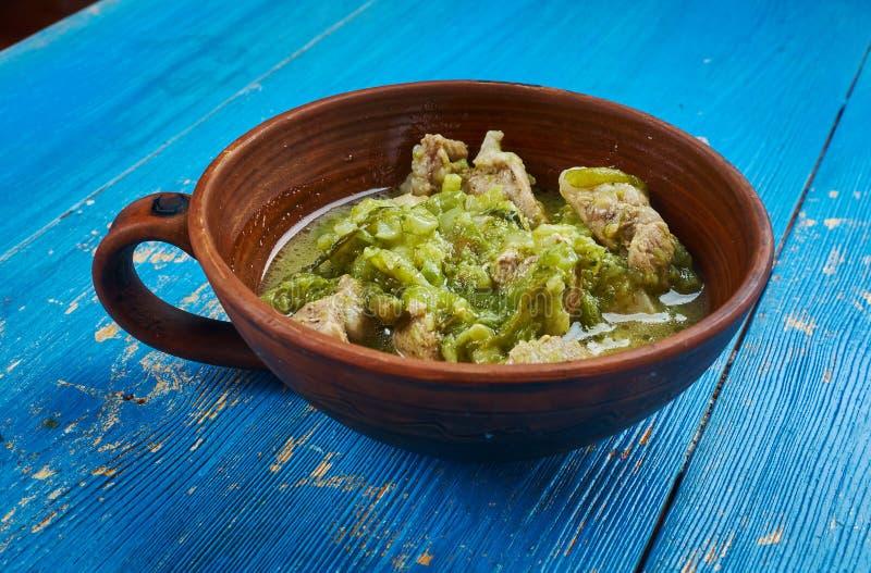 Wieprzowiny Chili Verde fotografia royalty free