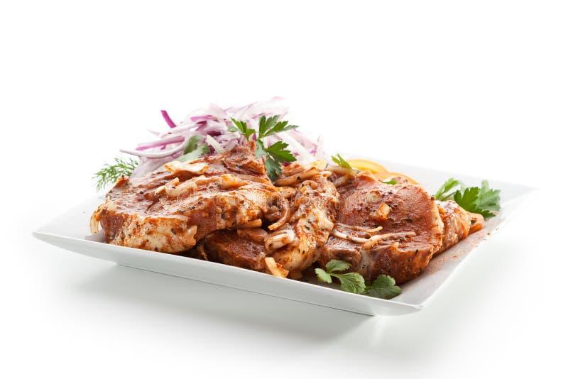 Wieprzowiny loin stek zdjęcie royalty free