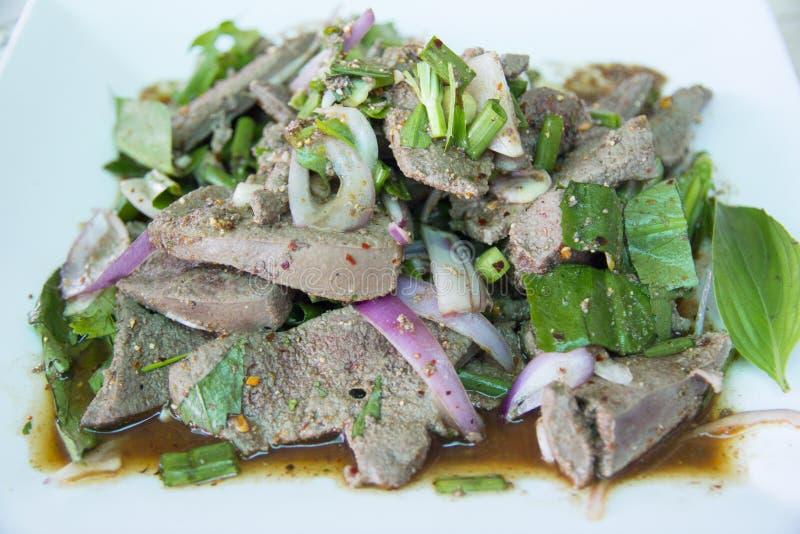 Wieprzowiny wątrobowa korzenna sałatka zdjęcia stock