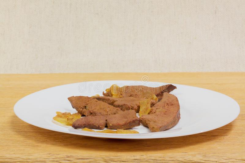 Wieprzowiny wątrobowy Domowy kucharstwo obrazy royalty free