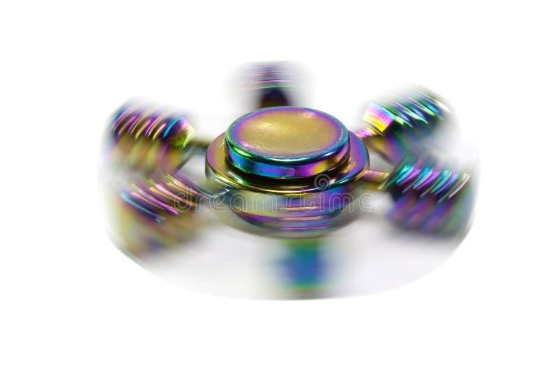 Wiercipięta metalu tęczy ręki kądziołek fotografia stock