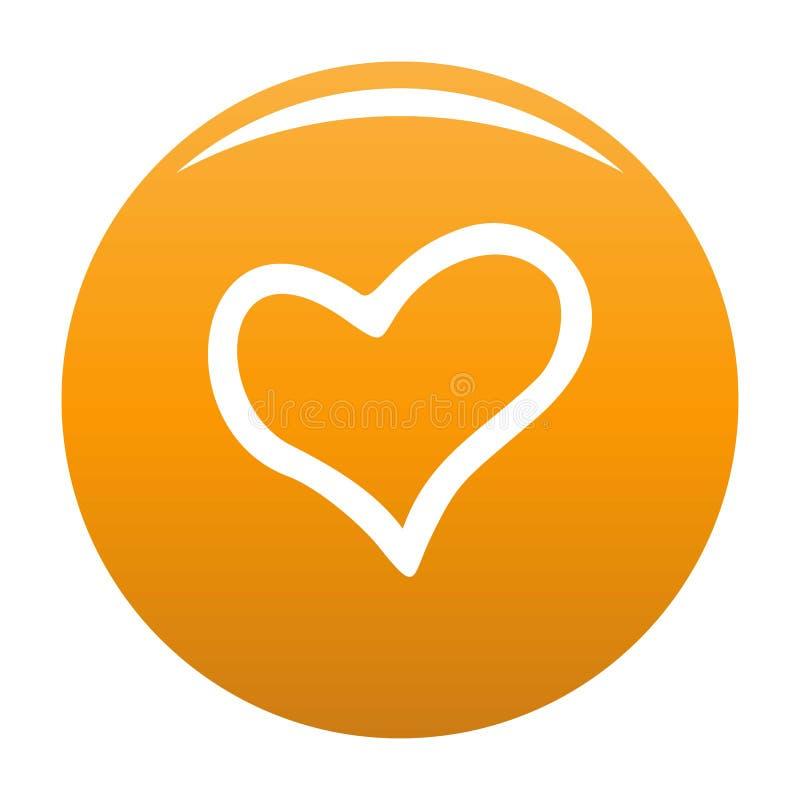 Wierna kierowa ikony pomarańcze ilustracji