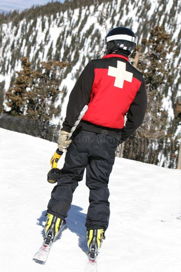 wiertło patroli na nartach obrazy royalty free
