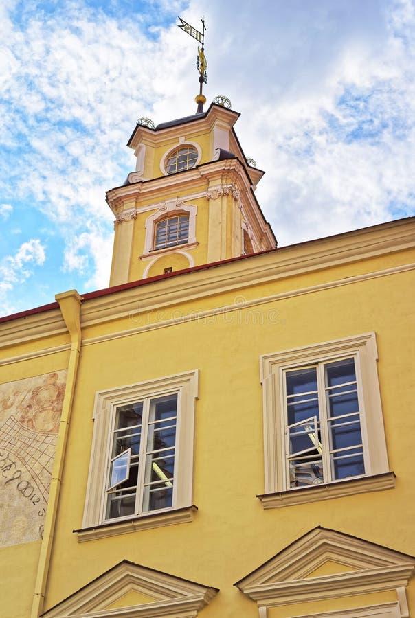 Wierza Astronomiczny obserwatorium przy Vilnius uniwersytetem fotografia stock