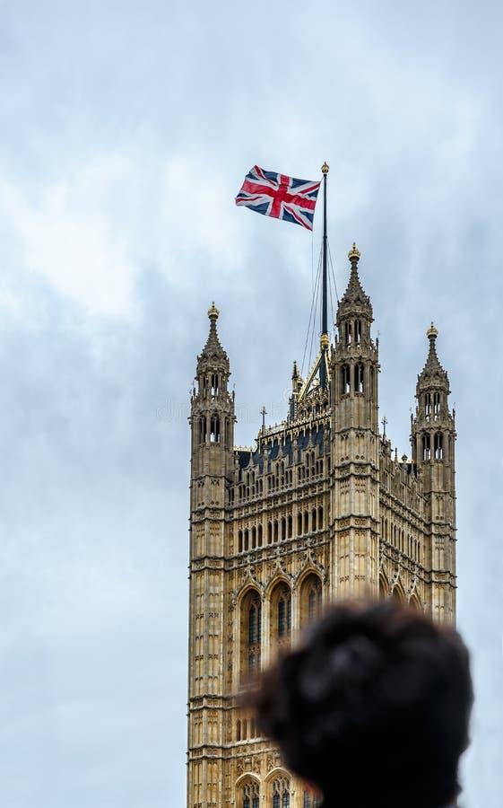 Wierza blisko Big Ben w Londyn, England obrazy royalty free