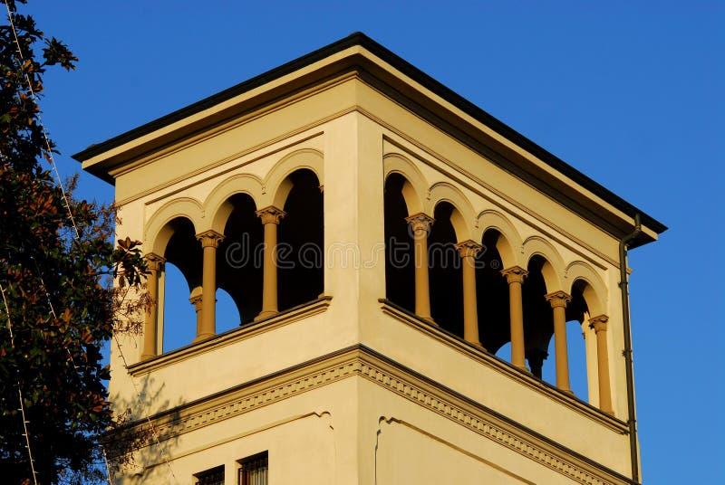 Wierza budynek obok kasztelu Vigevano blisko Pavia w Lombardy (Włochy) obraz royalty free