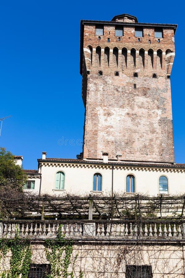 Wierza Castel brama w Vicenza mieście zdjęcie stock