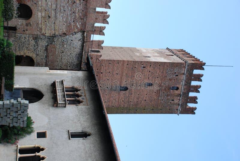 Wierza Castelvecchio w Verona zdjęcie royalty free