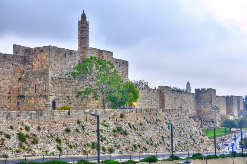 Wierza David, Jerozolimski Izrael fotografia royalty free