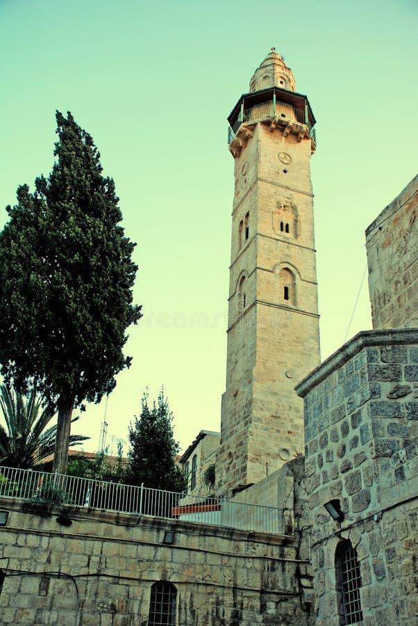 Wierza David w wieczór (Jerozolima) obraz stock