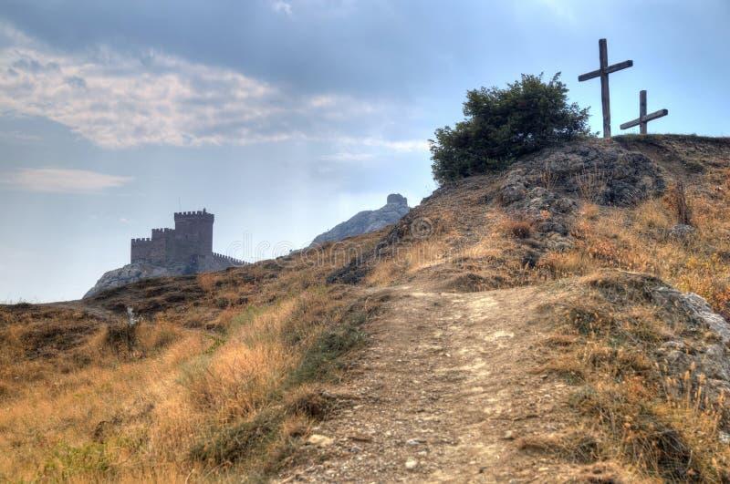 Download Wierza Genua Forteca W Sudak Crimea Od Ziemi Up Na Th Zdjęcie Stock - Obraz złożonej z fort, greenbacks: 28953794