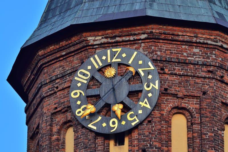 Wierza Koenigsberg katedra, Gocka świątynia czternasty wiek Symbol Kaliningrad do 1946 Koenigsberg, Rosja obrazy royalty free