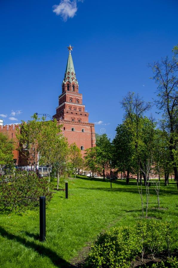 Wierza Kremlins ściany, Moskwa, Rosja zdjęcia royalty free
