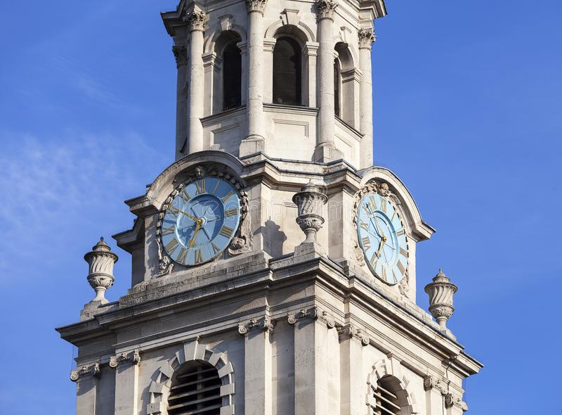 Wierza neoklasyczny budynek St Martin w polach kościół, Londyn, Zjednoczone Królestwo obraz stock