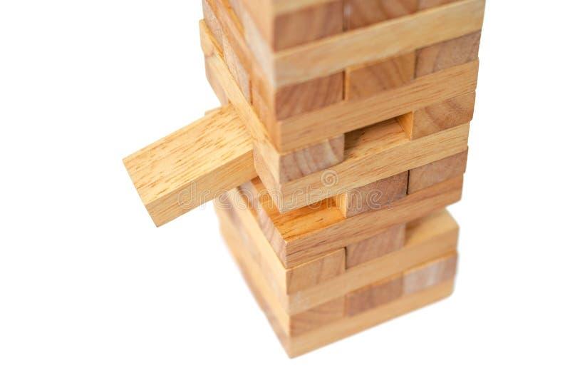 Wierza od drewnianych blok?w obraz stock