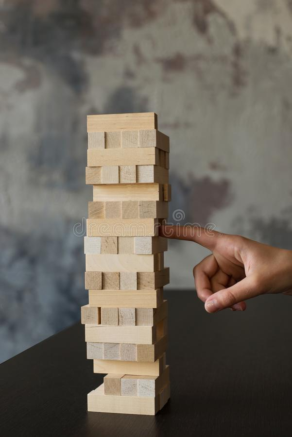 Wierza od drewnianych blok?w fotografia stock
