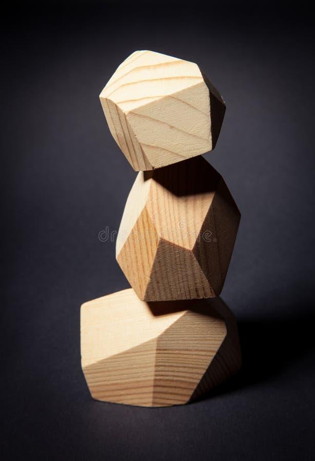 Wierza od drewnianych elementów zdjęcia stock