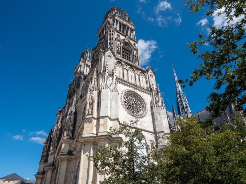 Wierza orléans katedra zdjęcia royalty free