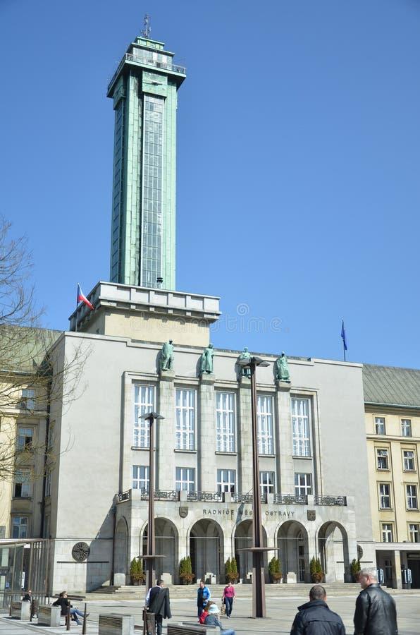 Wierza Ostrava urząd miasta obrazy stock