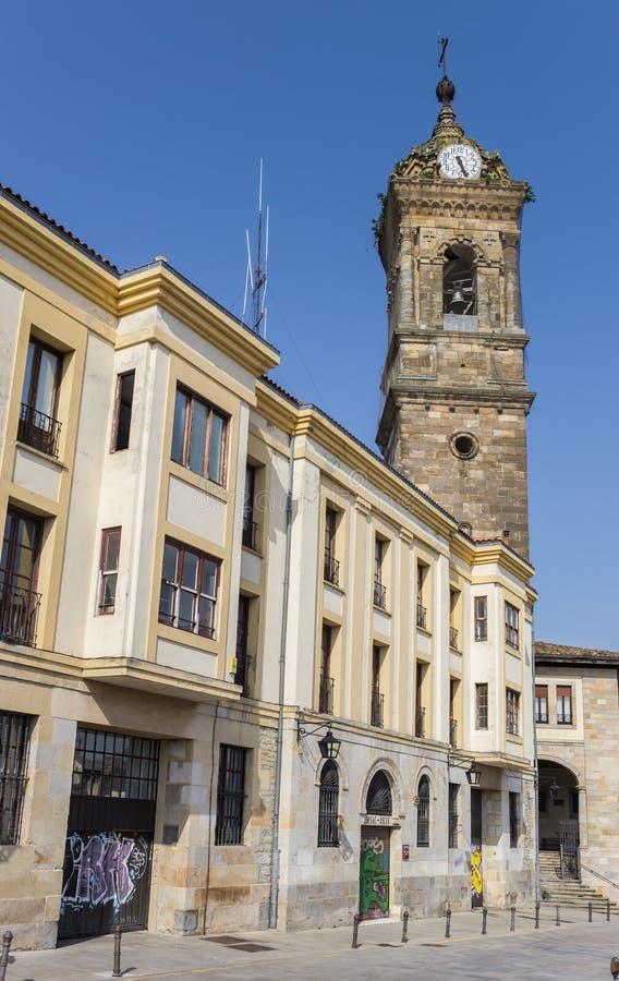 Wierza San Vincente kościół w Vitoria Gasteiz fotografia stock