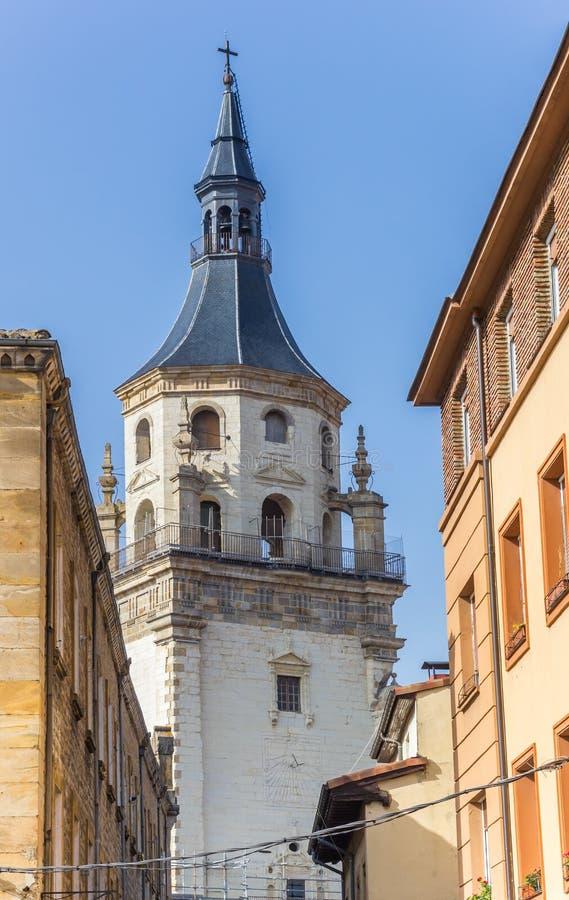 Wierza Santa Maria katedra Vitoria-Gasteiz zdjęcia stock