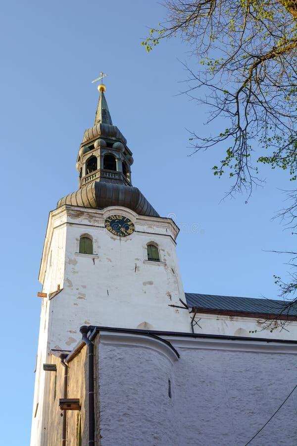 Wierza St ` s Maryjna katedra lub kopuły kościół, lub katedra Sa, zdjęcia stock