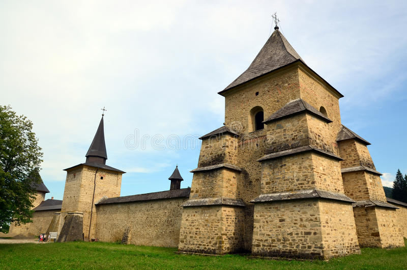 Wierza Sucevita monaster obraz royalty free