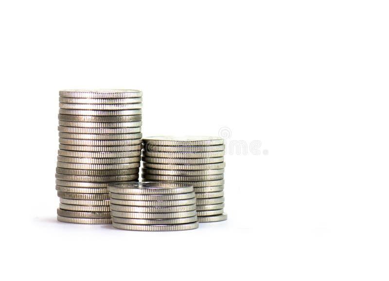 Wierza Tajlandzkie monety zdjęcia stock