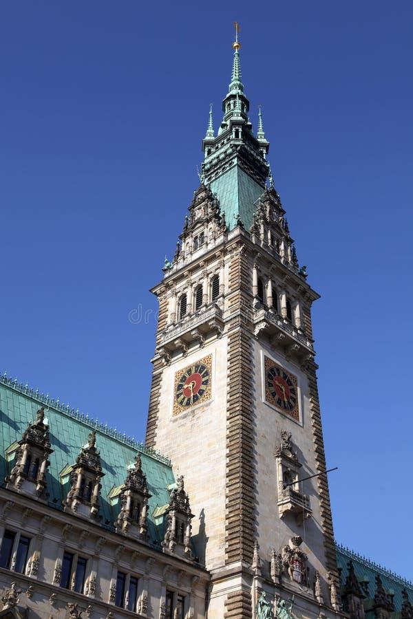 Wierza urząd miasta Hamburg obrazy stock