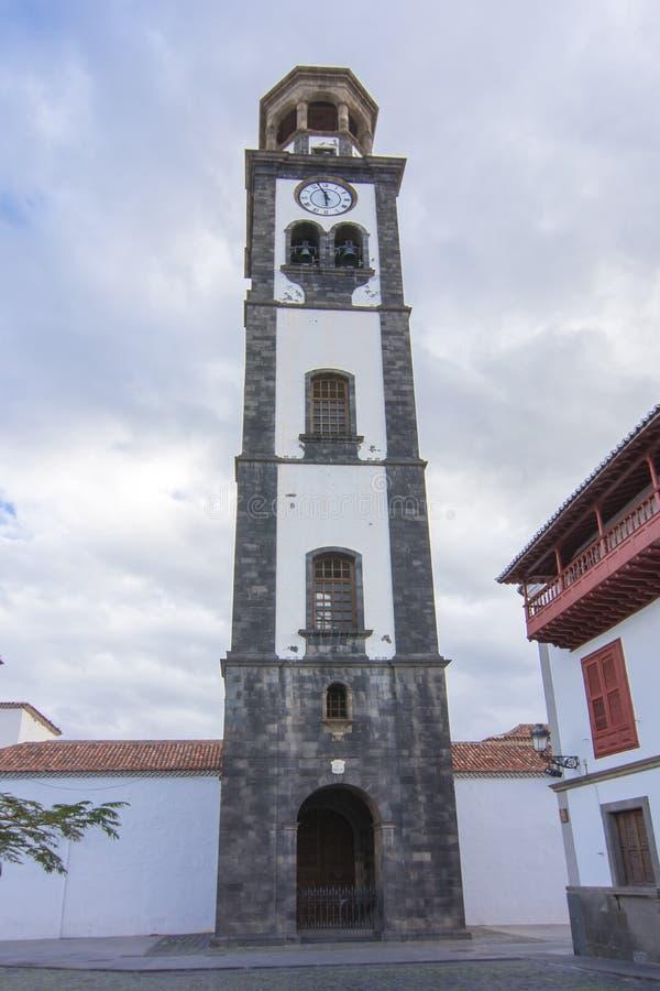 Wierza w Puerto De La Cruz, Tenerife, wyspy kanaryjska, Hiszpania obraz royalty free