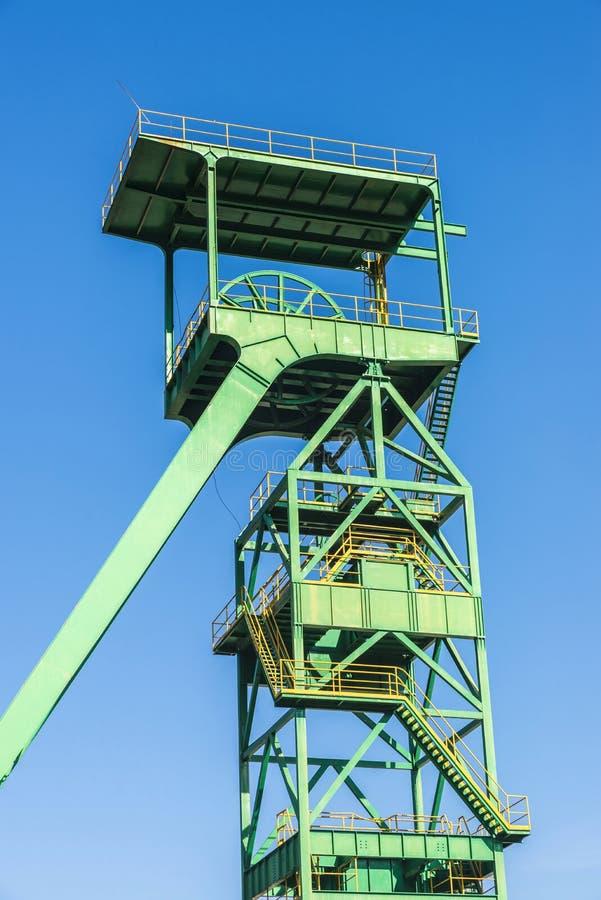 Wierza well ekstrakcja kopalnia, Hiszpania fotografia stock