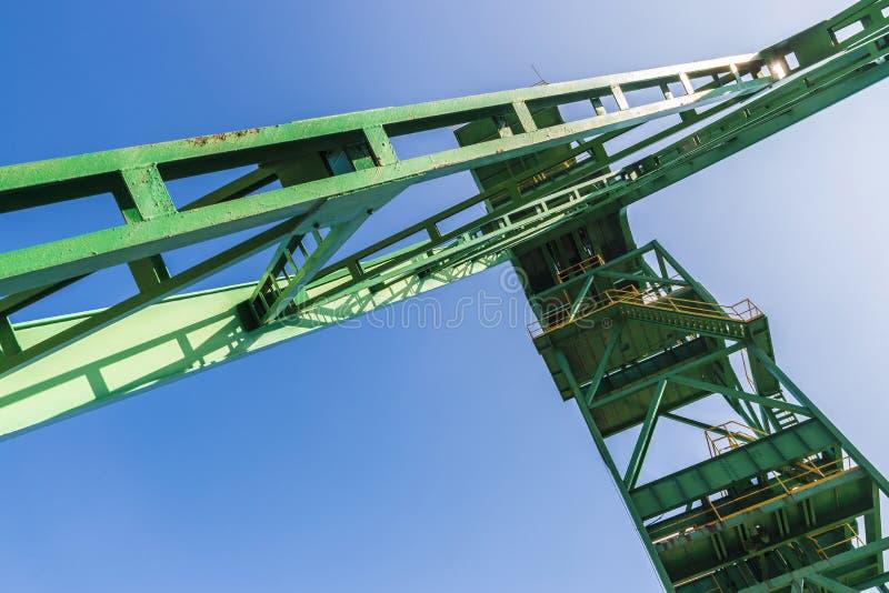 Wierza well ekstrakcja kopalnia, Hiszpania zdjęcie royalty free
