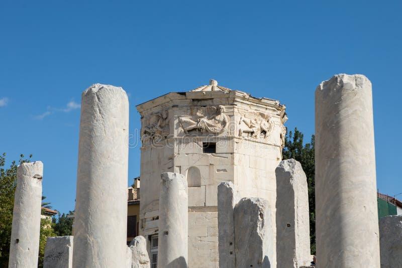 Wierza wiatry w Ateny, Grecja fotografia royalty free