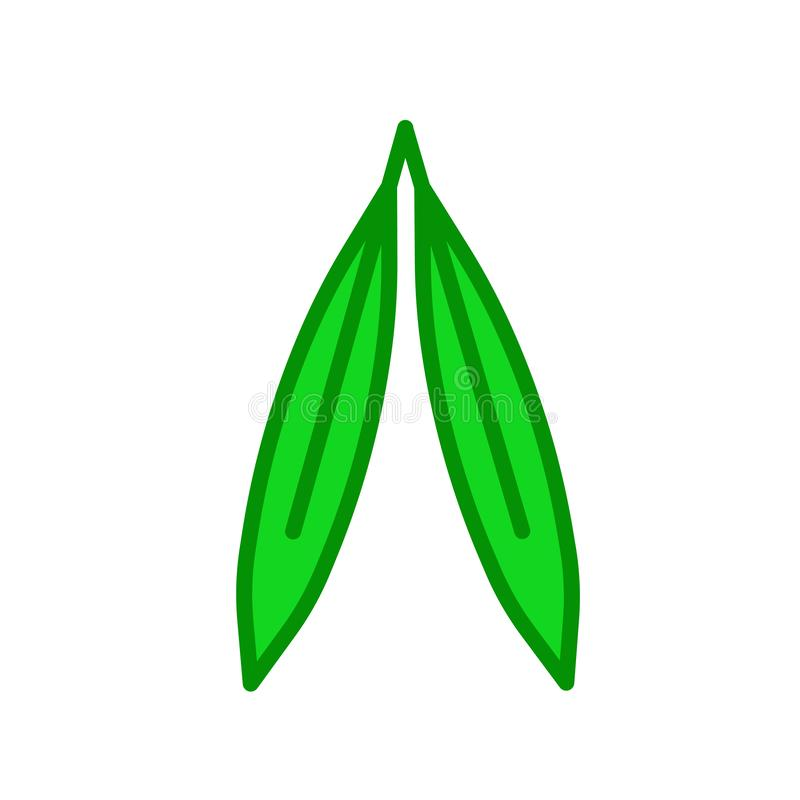 Wierzbowy liść ikony wektoru znak i symbol odizolowywający na białym backgr ilustracji