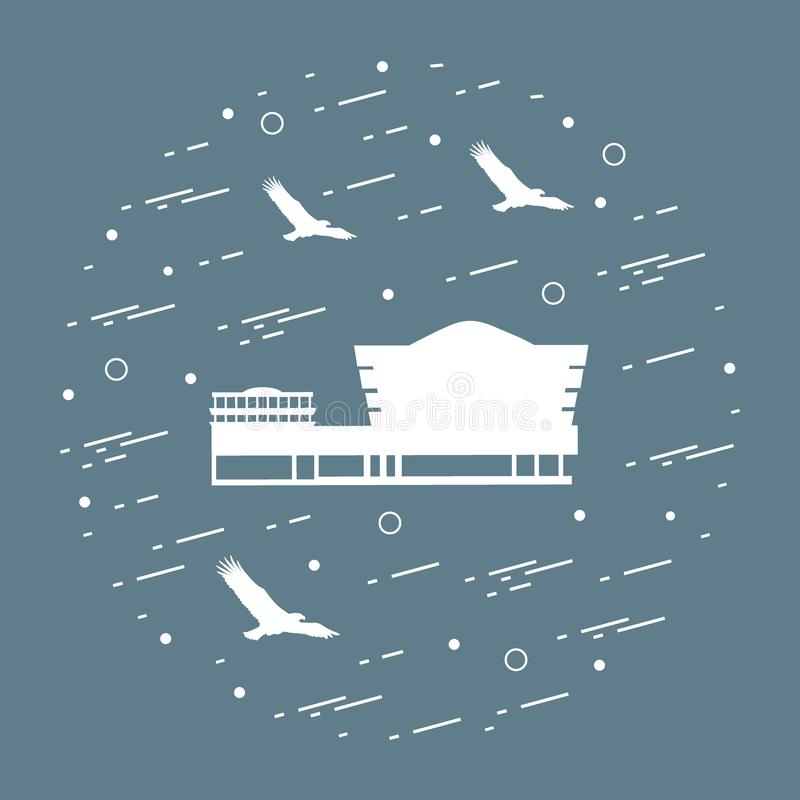 wierzch architektoniczny jak zostać budynku wieka miasta inkasowi kulturalni projektujący wyróżniającej wczesnej wschodniej szcze ilustracja wektor