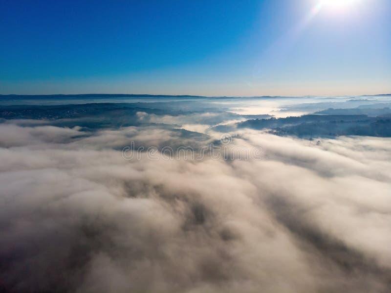 wierzch chmury z rankiem obraz stock