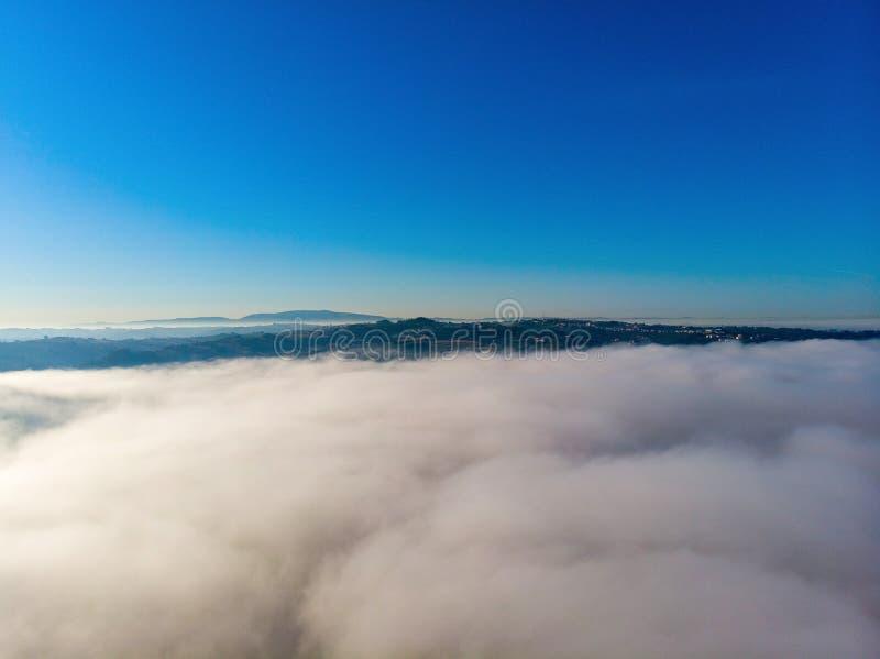 wierzch chmury z rankiem obraz royalty free