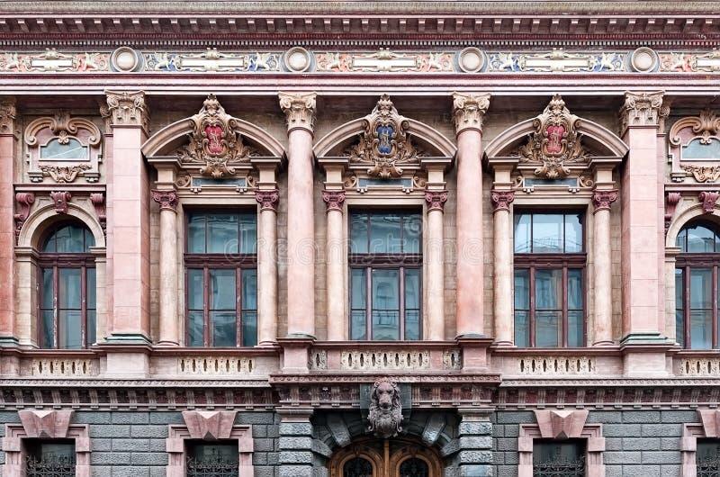 Wierzch równy dom naukowowie pałac Hrabiowski Tolstoy budynek, Odessa Ukraina obrazy royalty free