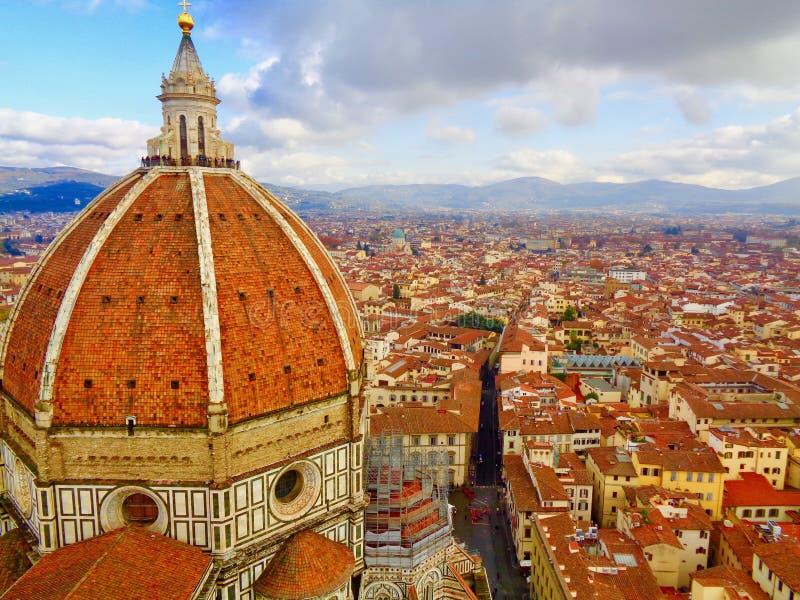Wierzchołek i Duomo widok w Florencja, Włochy obraz stock