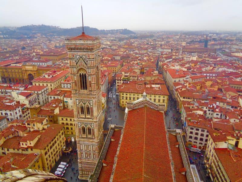 Wierzchołka widok Florencja, Włochy od Duomo fotografia stock