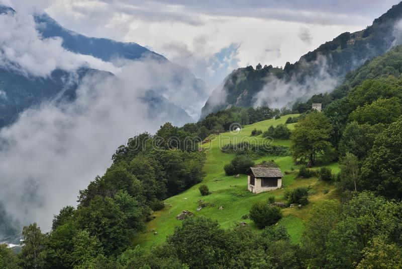 Wierzchołek świat w Szwajcarskich Alps zdjęcia royalty free