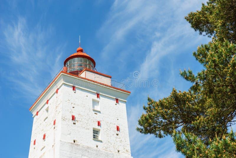Wierzchołek antyczna Kopiec latarnia morska, Hiiumaa, Estonia zdjęcia stock