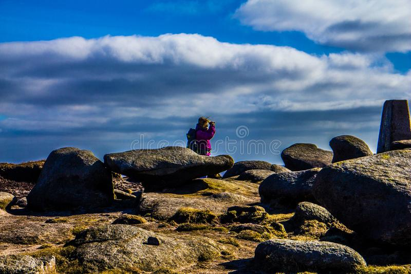 Wierzchołek bleaklow szczytu okręgu park narodowy zdjęcia royalty free