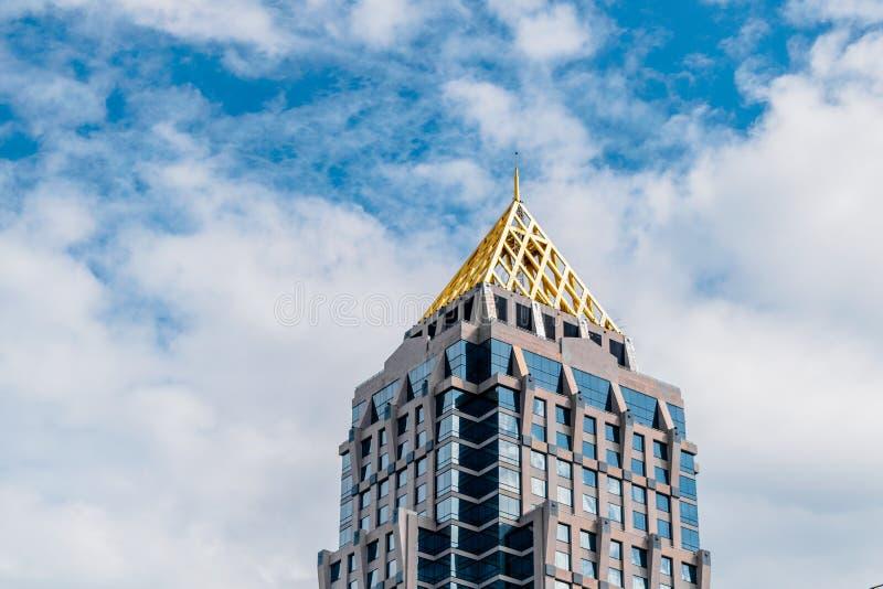 Wierzchołek drapacz chmur zdjęcie royalty free