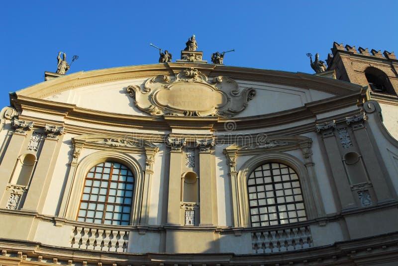 Wierzchołek katedra Vigevano blisko Pavia w Lombardy (Włochy) fotografia stock