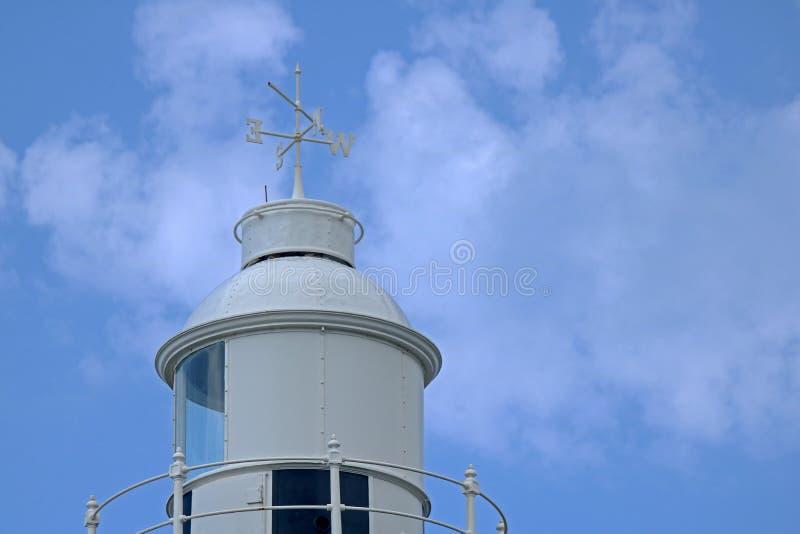 WIERZCHOŁEK latarnia morska Z POGODOWYM VANE fotografia royalty free