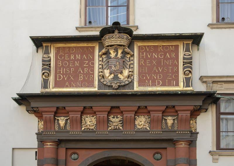 Wierzchołek Schweizertor, brama Szwajcarski sąd, Hofburg pałac, Wiedeń zdjęcie stock