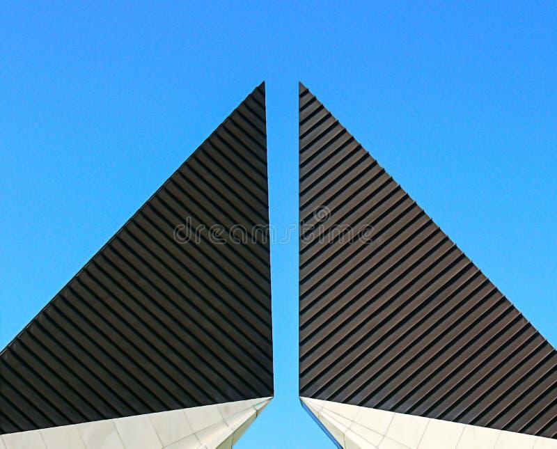 Wierzchołek zabytek z geometrycznymi kształtami fotografia stock