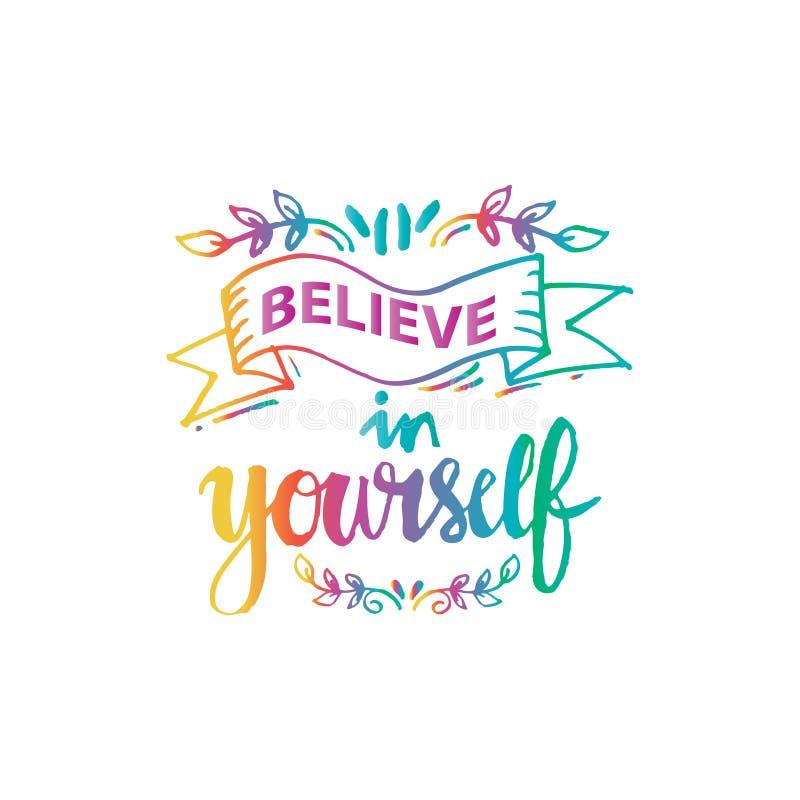 Wierzy W Ty ilustracja wektor