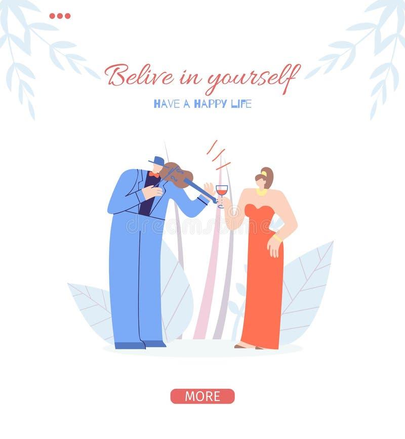 Wierzy w Ty lądowanie strony socjalny Motywuje ilustracji